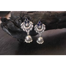 Opulent Design German Silver Earrings