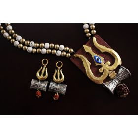 Trishula Damaru Temple Terracotta Jewellery Set
